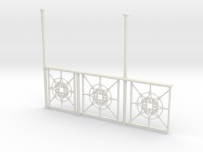 Observation Deck railing 1:20.32 scale in White Strong & Flexible