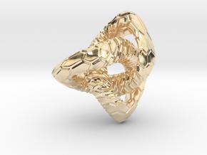 Love Atom , Pendant in 14K Yellow Gold