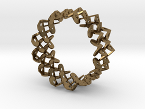 Tzompantli Bangle in Natural Bronze: Large
