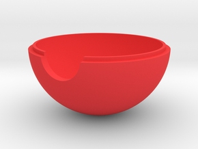 Pokeball - Part 1 in Red Strong & Flexible Polished