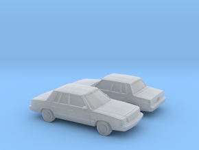 1/160 2X 1985-89 Plymouth Reliant Sedan in Smooth Fine Detail Plastic