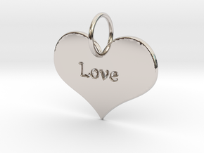 Heart Pendant in Platinum