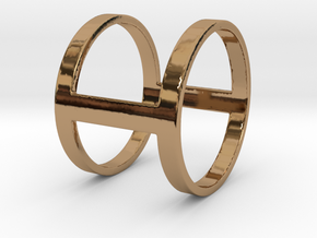 """I Line"" Ring in Polished Brass"