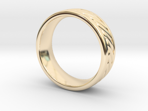 Nautical Rope Ring - size 11.5 in 14K Yellow Gold