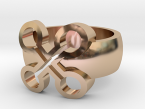 Adinkra Rings - Series 2: Nyame Bewu Na Mewu in 14k Rose Gold Plated