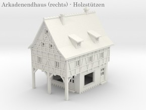 Altstadt Arkadenhaus 6 - 1:220 (Z scale) in White Natural Versatile Plastic