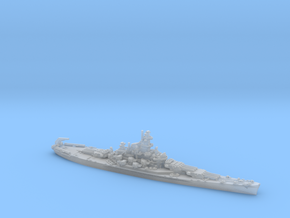 US BB58 Indiana [early-war; 1942] in Smooth Fine Detail Plastic: 1:1800