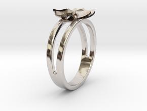 Flower Ring Size 6 in Platinum