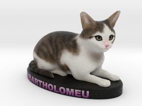 Custom Cat Figurine - Bartholomeu in Full Color Sandstone