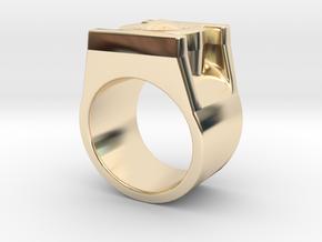 Green Lantern Ring 8.5 in 14k Gold Plated Brass