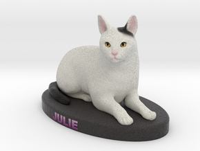 Custom Cat Figurine - Julie in Full Color Sandstone