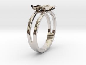 Flower Ring Size 6.5 in Platinum
