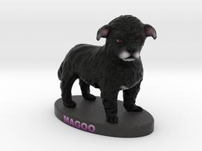 Custom Dog Figurine - Magoo in Full Color Sandstone