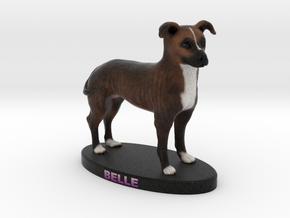 Custom Dog Figurine - Belle in Full Color Sandstone