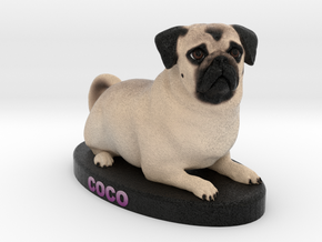 Custom Dog Figurine - Coco in Full Color Sandstone