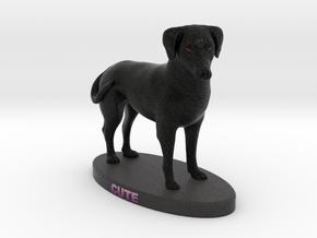 Custom Dog Figurine - Cute in Full Color Sandstone