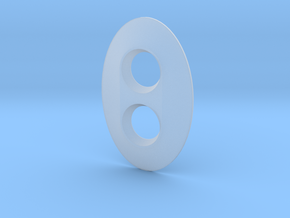 Dimmer Oval in Smooth Fine Detail Plastic