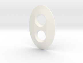 Dimmer Oval in White Processed Versatile Plastic