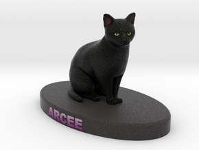 Custom Cat Figurine - Arcee in Full Color Sandstone