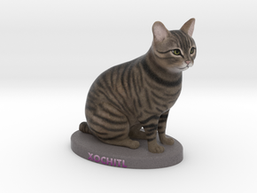 Custom Cat Figurine - Xochitl in Full Color Sandstone
