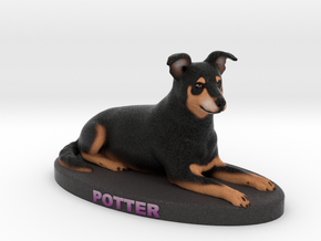 Custom Dog Figurine - Potter in Full Color Sandstone