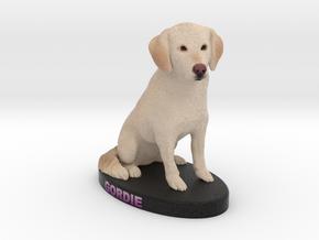 Custom Dog Figurine - Gordie in Full Color Sandstone