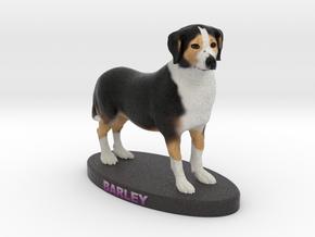 Custom Dog Figurine - Barley in Full Color Sandstone