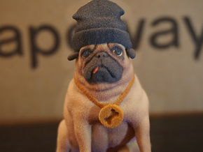 Thug Pug in Full Color Sandstone