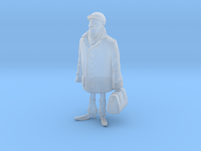 Man holding a suitcase in Smooth Fine Detail Plastic