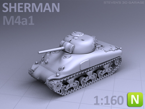 SHERMAN M4A1  (N scale) in Frosted Ultra Detail