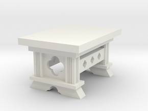Gothic Table (28mm) in White Natural Versatile Plastic