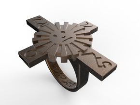 Talisman #9  Commands The Elements in Polished Bronze Steel: 9 / 59