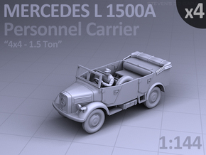 Mercedes L 1500 A - PERSONNEL CARRIER - (4 pack) in Smooth Fine Detail Plastic