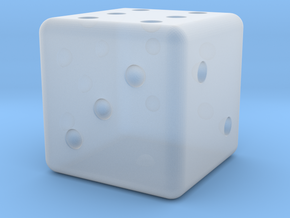 Loaded Weighted Die in Smoothest Fine Detail Plastic