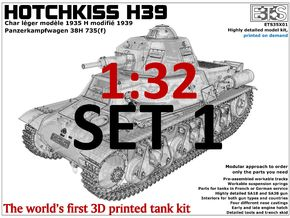 ETS32X01 - Hotchkiss H39 - Set 1 in Smooth Fine Detail Plastic