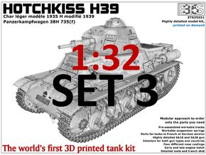 ETS32X01 Hotchkiss H39 - Set 3 - Tracks in Frosted Ultra Detail