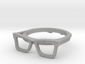 Hipster Glasses Ring Origin Size 10 (size 6-10) in Aluminum