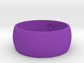 Ring Of Heart [Size 10] in Purple Processed Versatile Plastic
