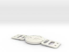 Deadpool Movie Belt Buckle 80mm (revised 2-05-16) in White Natural Versatile Plastic
