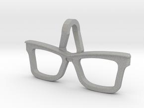Hipster Glasses Pendant Origin in Aluminum