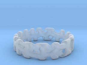 Voronoi 1 Design Ring Ø 19 mm/Ø 0.748 inch in Smooth Fine Detail Plastic