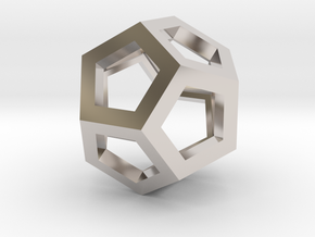 Dodecahedron in Rhodium Plated Brass