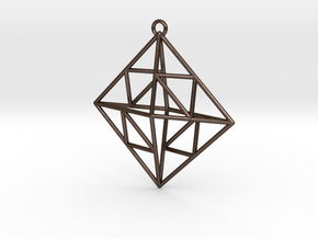 OCTAHEDRON Earring / Pendant Nº2 in Polished Bronze Steel