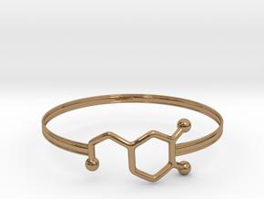 Dopamine Bracelet - small 65mm diameter in Polished Brass