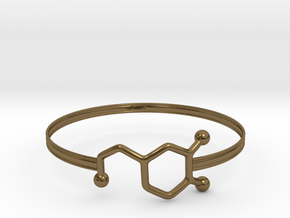 Dopamine Bracelet - small 65mm diameter in Polished Bronze