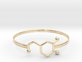 Dopamine Bracelet - small 65mm diameter in 14K Yellow Gold