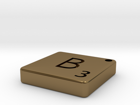 B in Polished Bronze