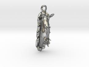 Doris the Nudibranch Pendant in Natural Silver