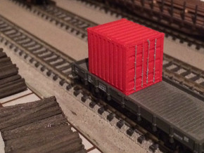 N Scale 10ft Container WSF in White Natural Versatile Plastic