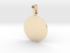 Pendant Base Round 1 Inch in 14K Yellow Gold